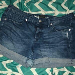 Mossimo Mud Rise Dark Wash Denim Shorts